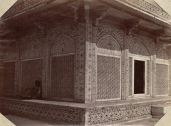 Interior of Taj Mahal, Agra [sic, for Exterior of Tomb of Itimad-ud-daulah, Agra]